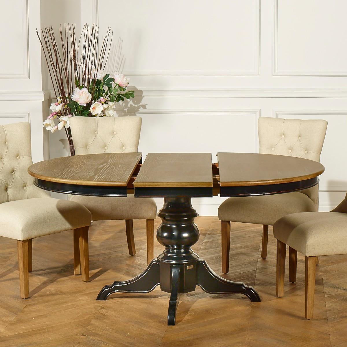 table ronde a rallonge noire