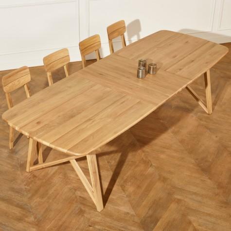 grande table a rallonges en chene lucette