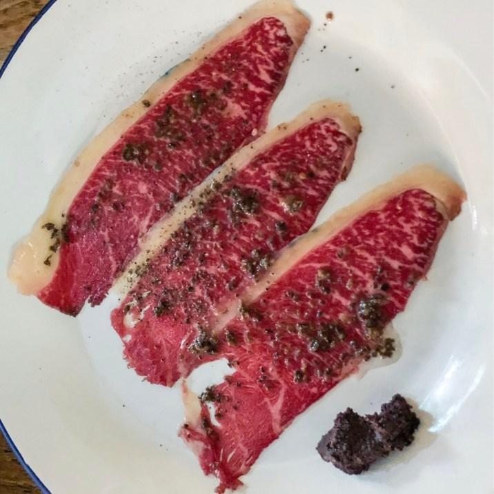 Carpaccio of aged Galician beef