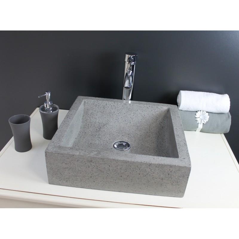 Vasque Lavabo A Poser Kiara Couleur Gris Moderne Robinet Co