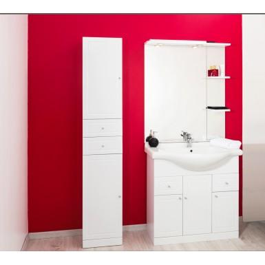 meuble colonne salle de bain a poser tolede 80 couleur blanc et moderne