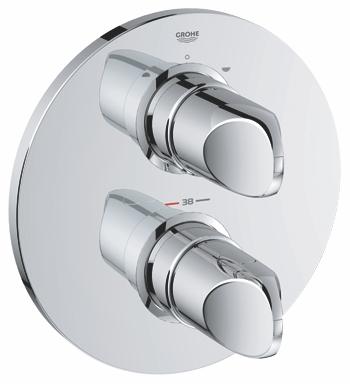grohe veris facade pour mitigeur thermostatique bain douche 19364000 chrome
