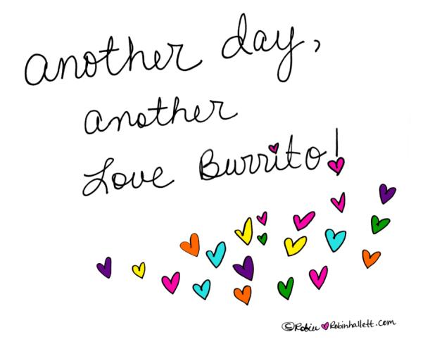 the love burrito that was