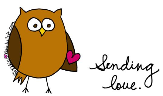 Sending you a little owlie love
