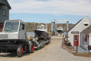 marina getting boats ready for summer