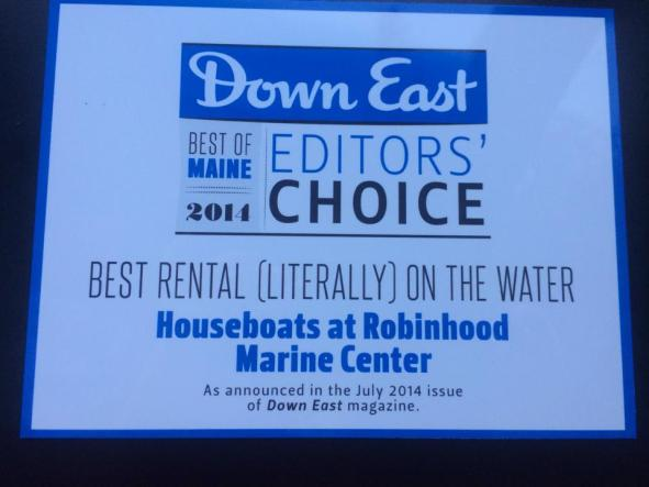 down east magazine best rental on the water award