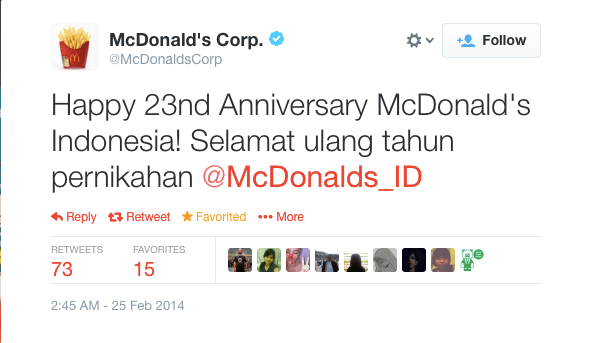 Twitter___McDonaldsCorp__Happy_23nd_Anniversary_McDonald_s____