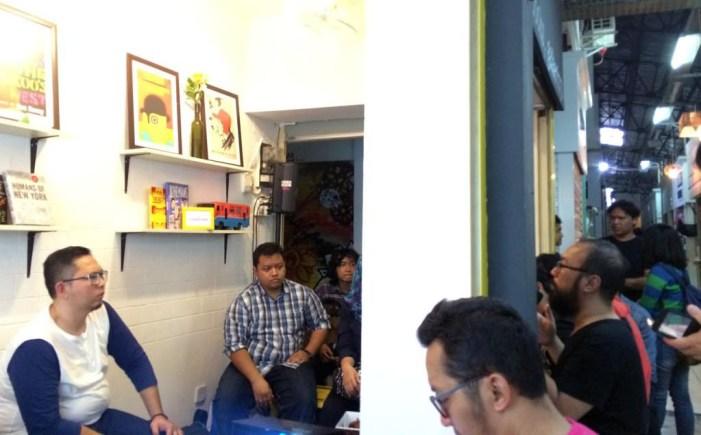Sekilas suasana sharing Unresolved 4 di Pasar Santa. Foto oleh Ferri Yuniardo.