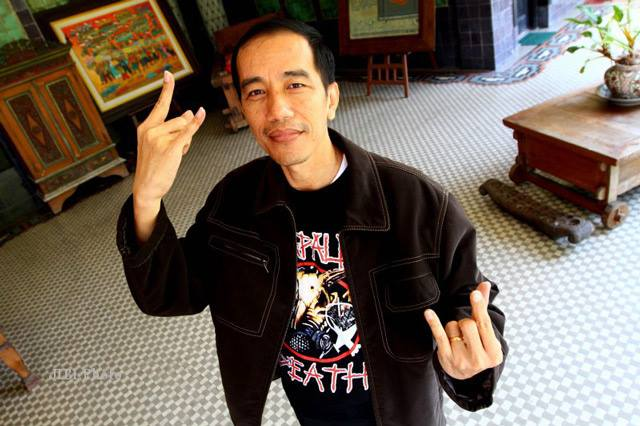 Jokowi is a Metal Poser