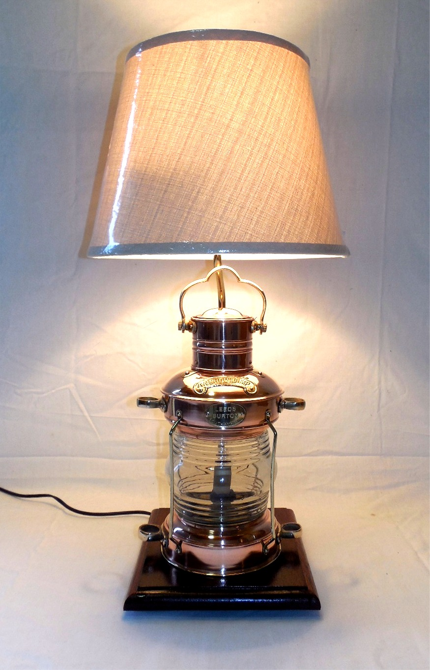 Robins Dockside Shop Copper Anchor Lamp Table Lamp