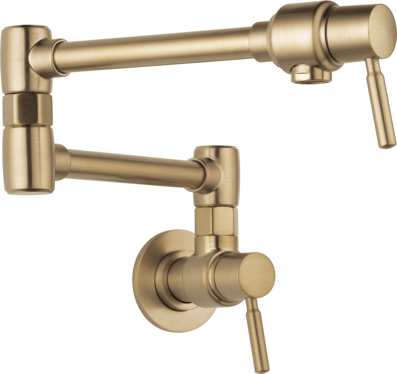 brizo euro wall mount pot filler faucet 62820lf gl robinson