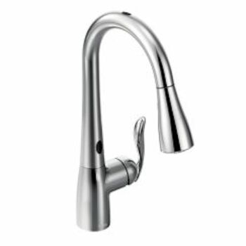 arbor one handle high arc motionsense pull down kitchen faucet