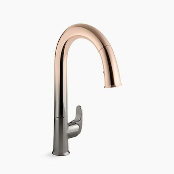 sensate touchless kitchen faucet with 15 1 2 inch pull down spout docknetik magnetic docking system and a 2 function sprayhead featuring sweep