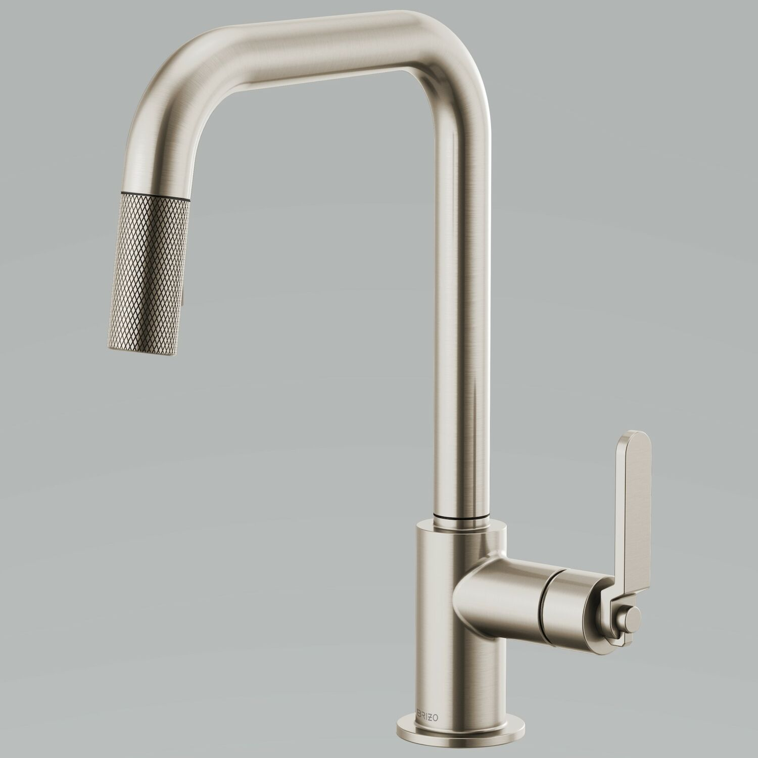 litze pull down faucet with square spout and industrial handle
