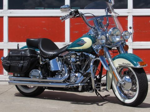 2009 Harley-Davidson Heritage Softail Classic FLSTC   - $6,000 in Options - Deep Turquoise 2-tone - $39 Week