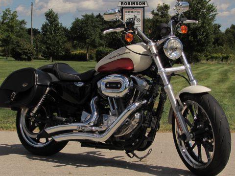 2011 Harley-Davidson XL883L SuperLow  - Birch White/Sedona Orange Paint - Low 10,200 KM's