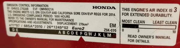 emissions label