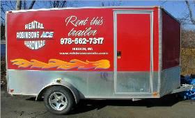 We rent motorcycle trailers