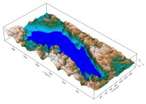 Lacul Vostok văzut prin sonar (albastru)