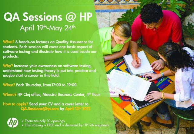 QA Sessions at HP Software Cluj Napoca