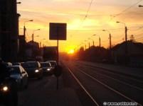 Apus de soare portocaliu, la Timișoara