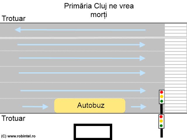 Primăria Cluj ne vrea morți, fiindcă nu pune semafoare vizibile