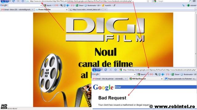 RDS își face reclamă nesimțită furându-mi URL-ul din browser