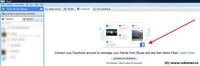 Noul Skype, acum și cu Facebook
