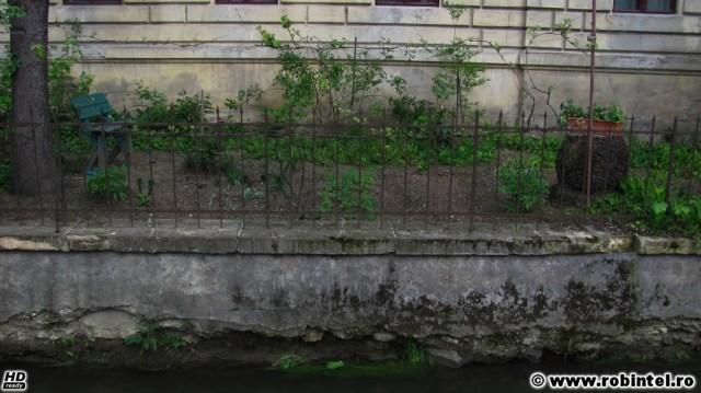 Cel mai mic parc din Cluj, o grădină privată amenajată boem și cu vedere la Canalul Morii