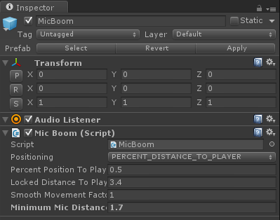 Game Audio Problem Solved: Virtual Mic Boom in Unity