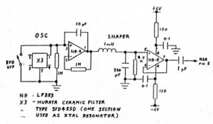A VLFLF receiver  10kHz to 500 kHz with resistance tuning