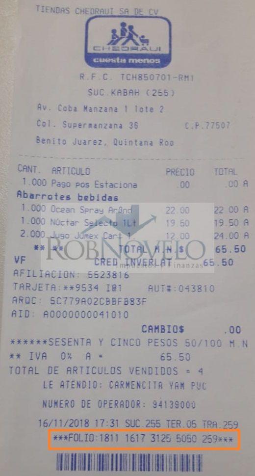 Facturacion ticket chedraui