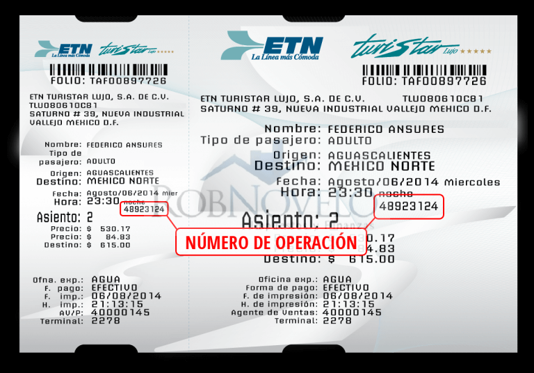 Facturacion ticket etn turistar
