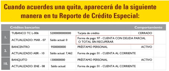 reporte de credito especial