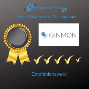 Robo-Advisor Ginmon Testbericht-Testergebnis