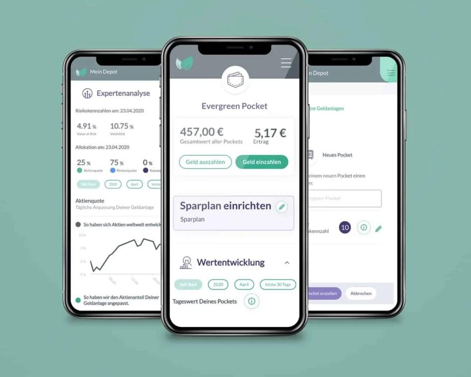 Pockets - die neue Sparfunktion der Online-Vermögensverwaltung Evergreen