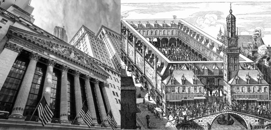 Investment - Börsen in New York und Amsterdam - Beginn moderner Investments