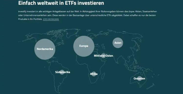 Investify Anlage-Universum
