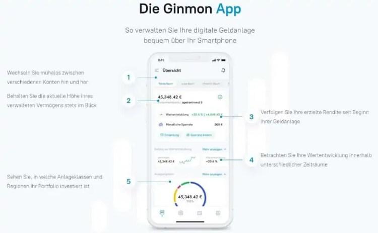 Ginmon Test - die Investment-App