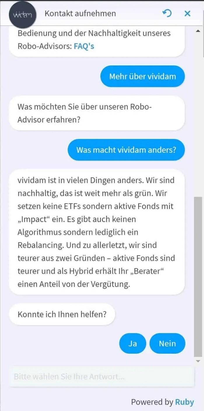 Vividam Test - Chatbot - Service