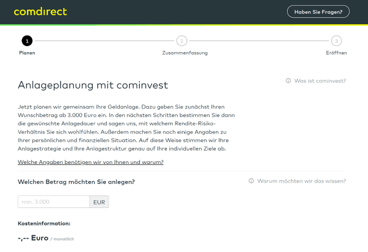 Cominvest Test - Anlageplanung