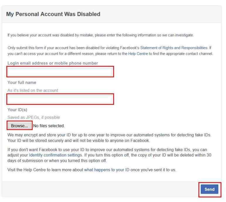 Facebook account disabled | roboticplanet.co