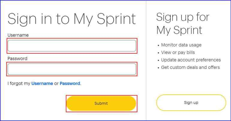 Sprint Login | roboticplanet.co