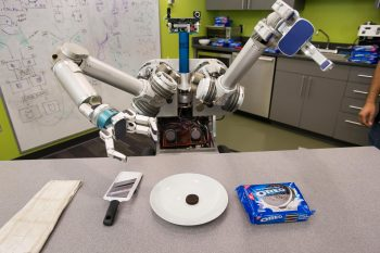 Pittsburgh's Robotics Institute tests HERB for an Oreo separation.