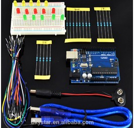 H010 UNO R3 + breadboard 400 point + LEDs Starter Learning Kit per Arduino (2)