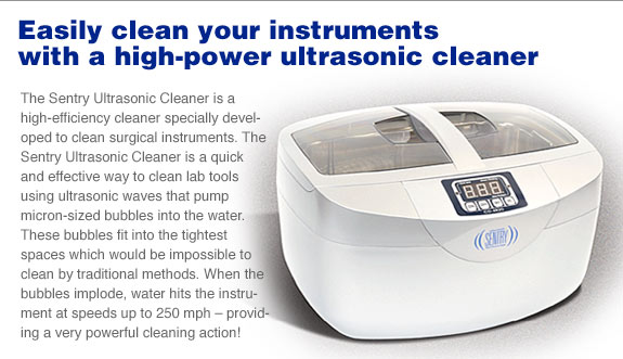 Sentry Ultrasonic Cleaner Roboz Surgical Instrument Co