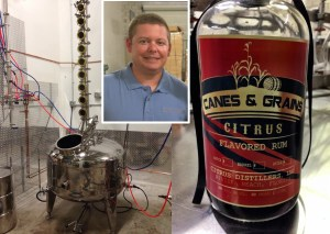 Dustin Skartved is the master distiller at Citrus Distillers