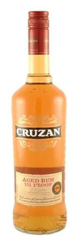 Types of Rum - Cruzan 151 overproof rum