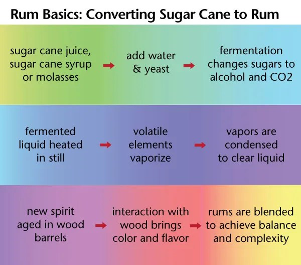 Rum 101 - Rum Basics: converting sugar cane to rum