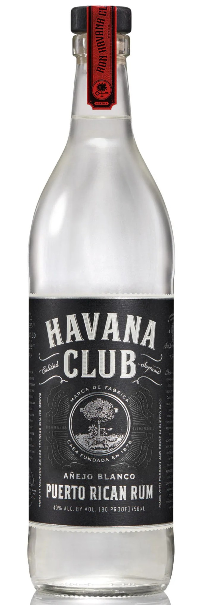 Bacardi produces Havana Club Blanco in Puerto Rico